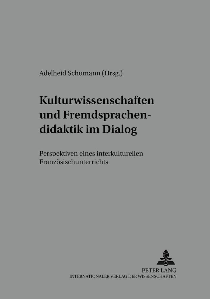 Kulturwissenschaften und Fremdsprachendidaktik ...
