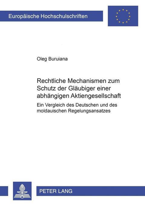 Rechtliche Mechanismen zum Schutz der Gläubiger...