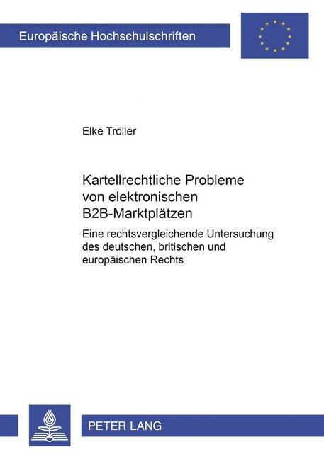 Kartellrechtliche Probleme von elektronischen B...