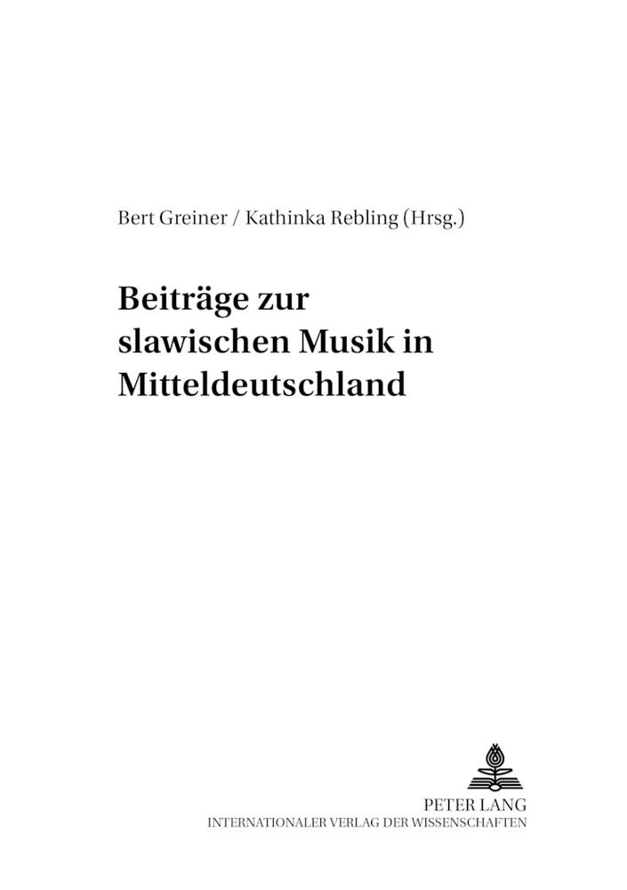 Beiträge zur slawischen Musik in Mitteldeutschl...