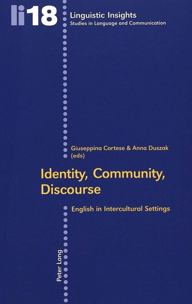 Identity, Community, Discourse als Buch von