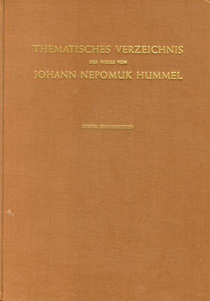 Thematisches Verzeichnis der Werke von Johann N...
