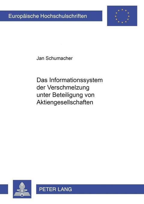 Das Informationssystem der Verschmelzung unter ...