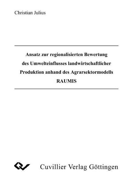 Ansatz regionalisierten Bewertung des Umweltein...