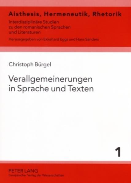 Verallgemeinerungen in Sprache und Texten als Buch (kartoniert)