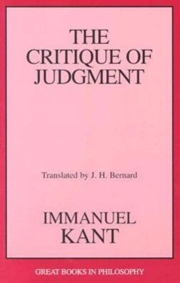 The Critique of Judgment als Taschenbuch