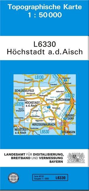 Topographische Karte Bayern.Topographische Karte Bayern Höchstadt A D Aisch