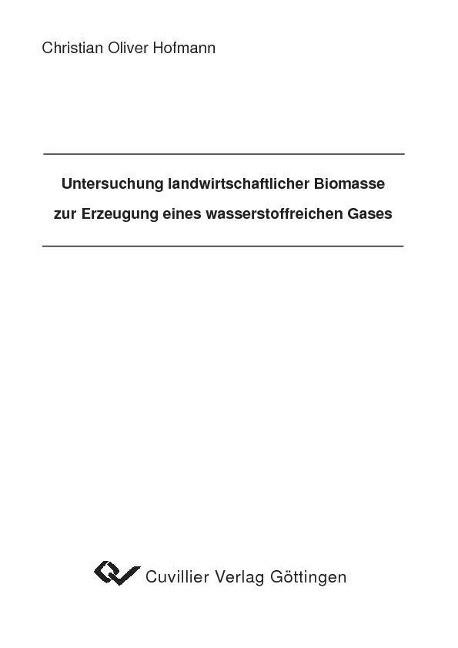 Untersuchung landwirtschaftlicher Biomasse zur ...