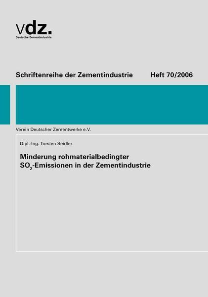 Minderung rohmaterialbedingter S02-Emissionen in der Zementindustrie als Buch