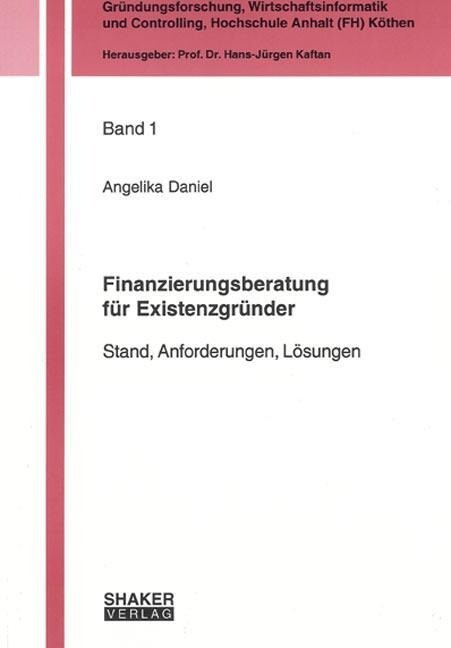 Finanzierungsberatung für Existenzgründer als B...
