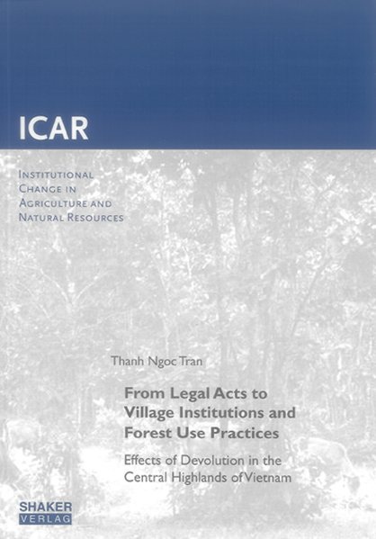 From Legal Acts to Village Institutions and For...