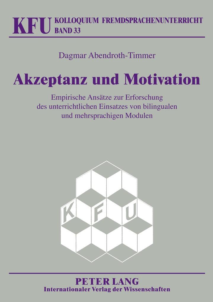 Akzeptanz und Motivation als Buch von Dagmar Ab...