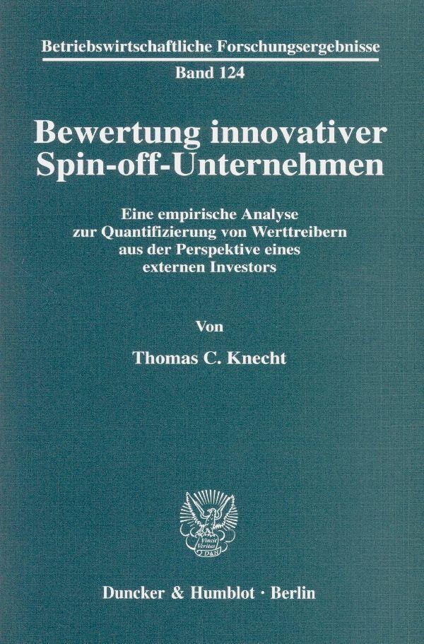 Bewertung innovativer Spin-off-Unternehmen. als...
