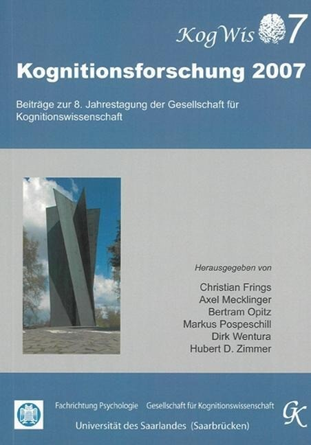 Kognitionsforschung 2007 als Buch von