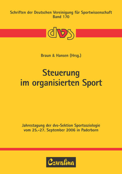 Steuerung im organisierten Sport als Buch von