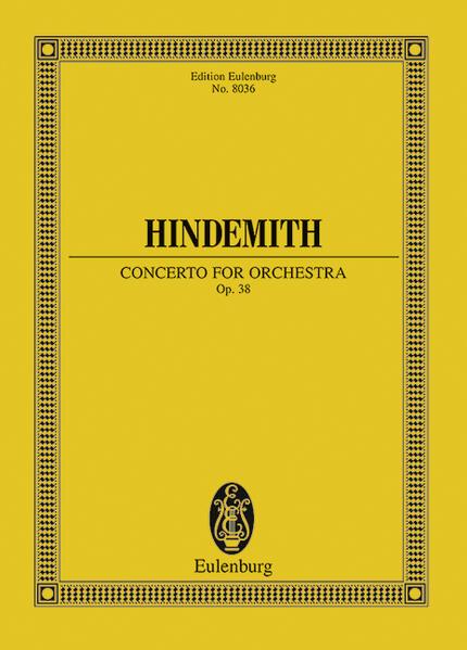 Konzert für Orchester als Buch von Paul Hindemith
