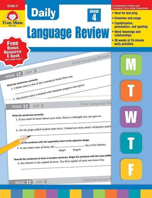 Daily Language Review, Grade 4 als Taschenbuch