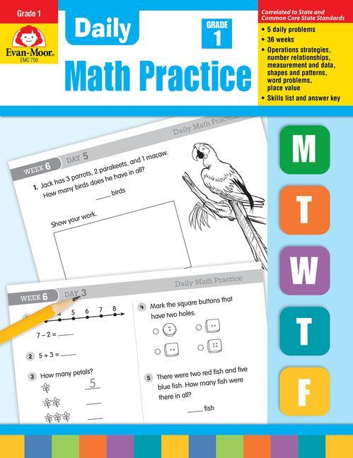 Daily Common Core Math Practice, Grade 1 als Taschenbuch