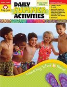 Daily Summer Activities, Moving from Prek to Kindergarten