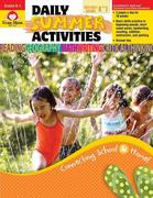 Daily Summer Activities, Moving from Kindergarten to 1st Grade