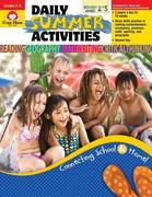 Daily Summer Activities, Moving from 2nd Grade to 3rd Grade