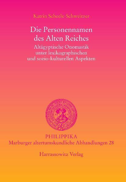 Die Personennamen des Alten Reiches als Buch vo...