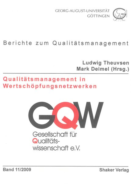 Qualitätsmanagement in Wertschöpfungsnetzwerken...