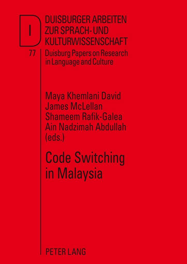 Code Switching in Malaysia als Buch von