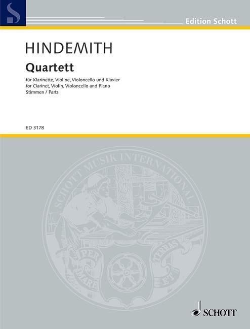 Quartett als Buch von Paul Hindemith
