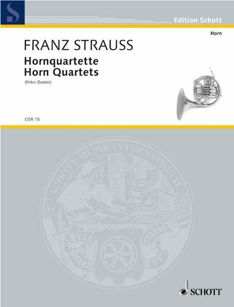 Hornquartette als Buch von Franz Strauß