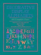 Decorative Display Alphabets