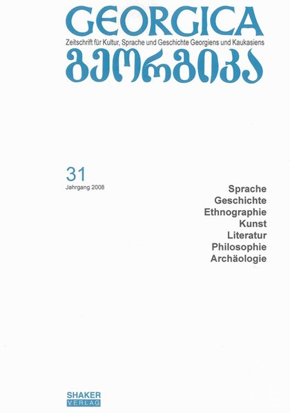 Georgica - Zeitschrift für Kultur, Sprache und ...