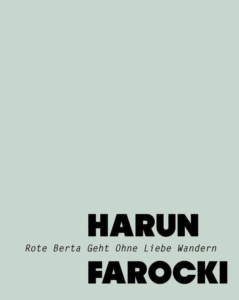 Harun Farocki als Buch von Harun Farocki, Barba...