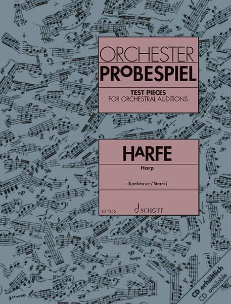 Orchester-Probespiel Harfe als Buch von