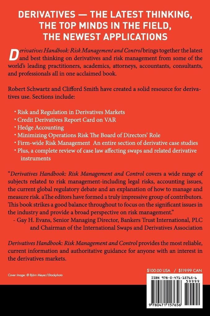 Derivatives Handbook: Risk Management and Control als Buch