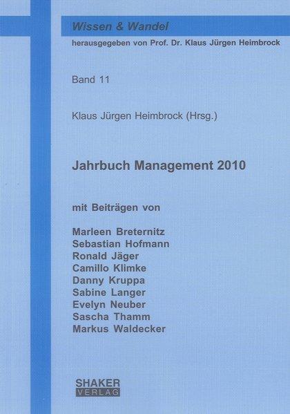 Jahrbuch Management 2010 als Buch von