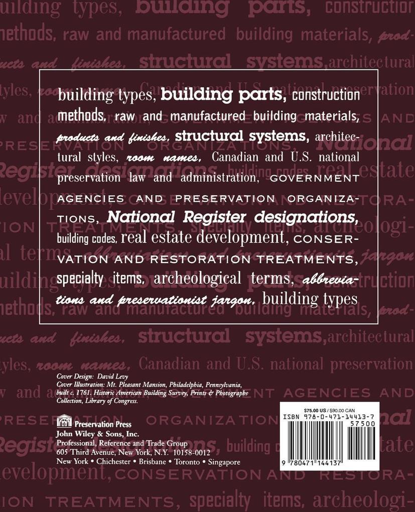 Dictionary of Building Preservation als Taschenbuch