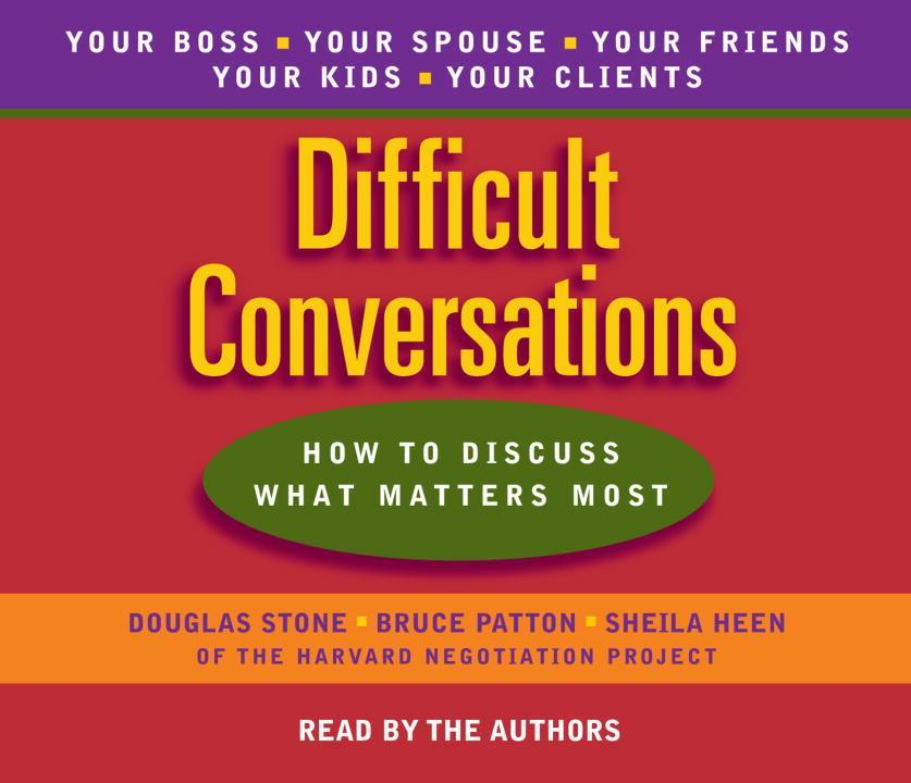 Difficult Conversations als Hörbuch