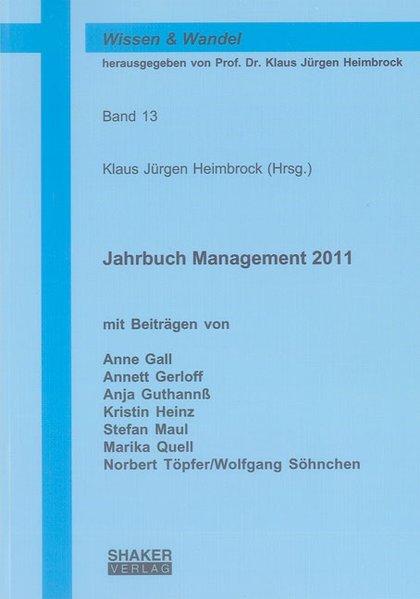Jahrbuch Management 2011 als Buch von