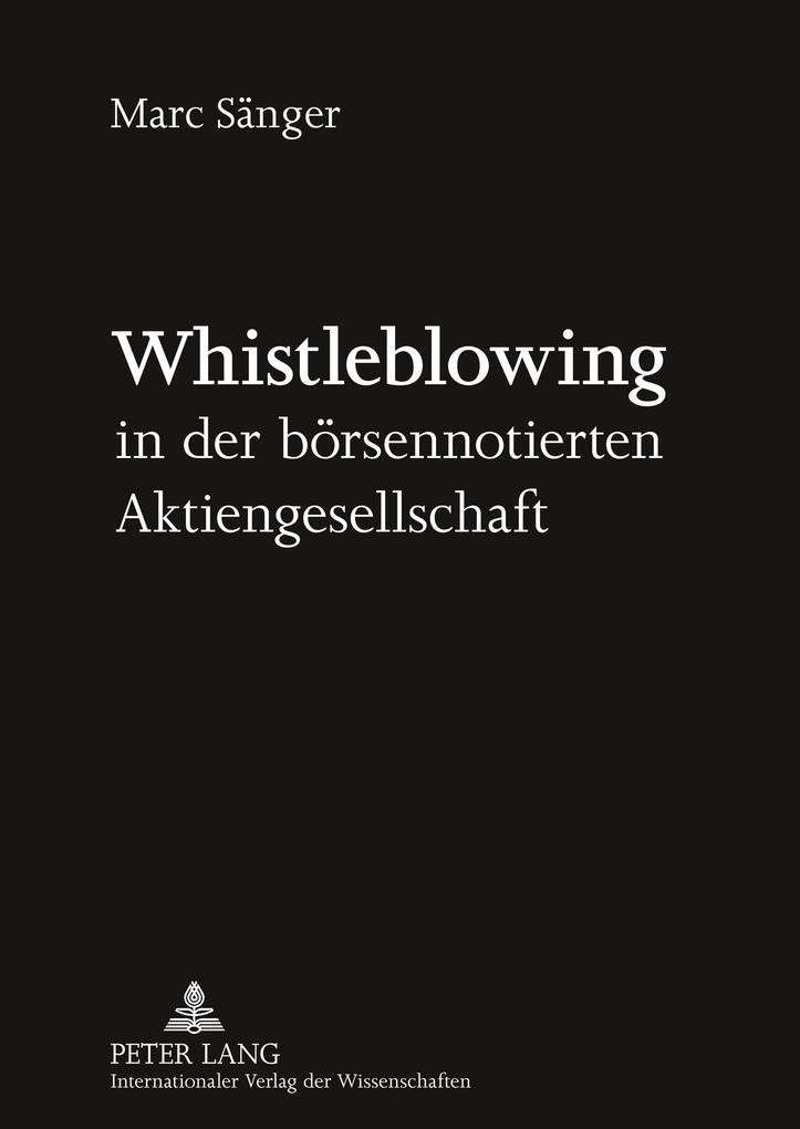 Whistleblowing in der börsennotierten Aktienges...