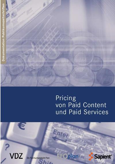Pricing von Paid Content und Paid Services (VDZ...