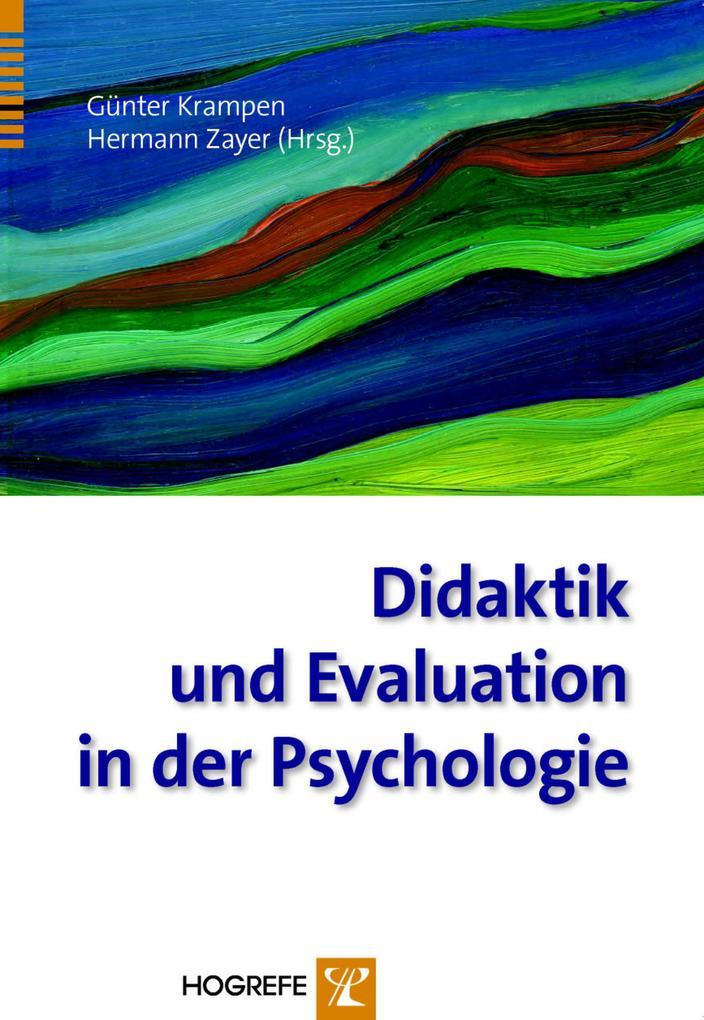 Didaktik und Evaluation in der Psychologie. Anw...