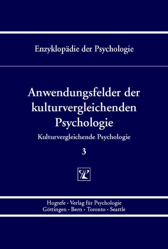 Anwendungsfelder der kulturvergleichenden Psych...