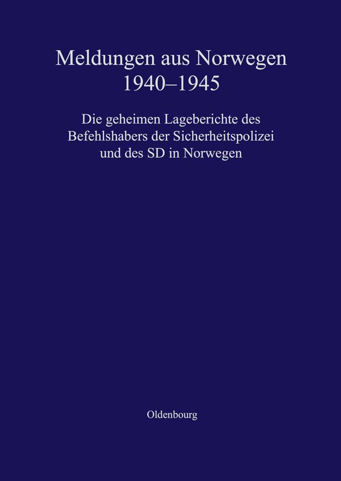 Meldungen aus Norwegen 1940-1945 als eBook Download von