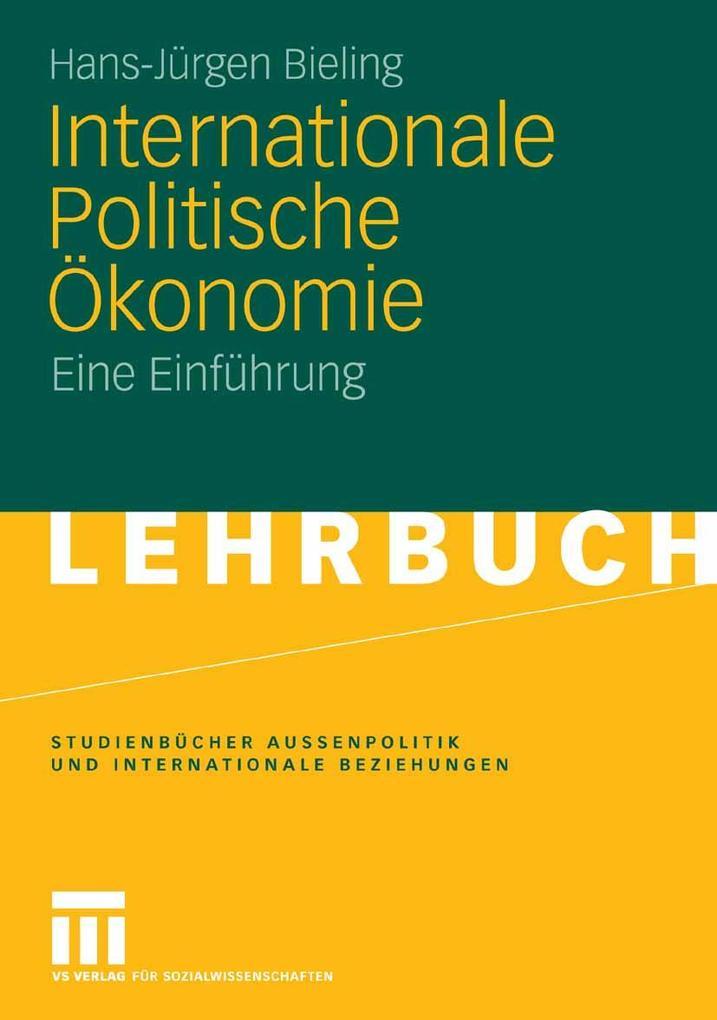 Internationale Politische Ökonomie als eBook Do...