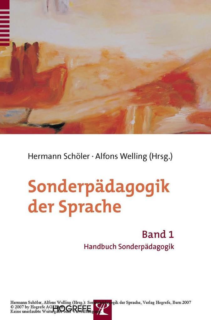 Sonderpädagogik der Sprache als eBook Download von