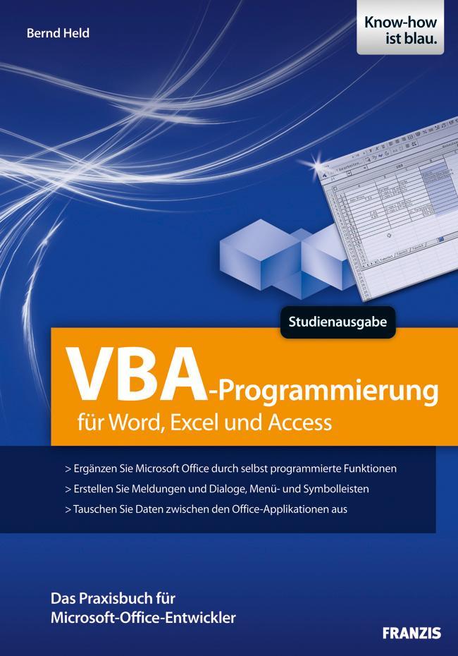 VBA-Programmierung für Word, Excel und Access a...
