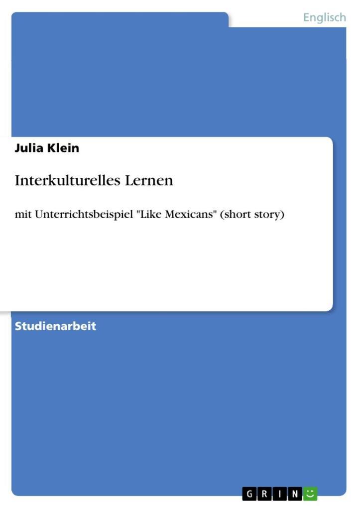Interkulturelles Lernen als eBook Download von ...