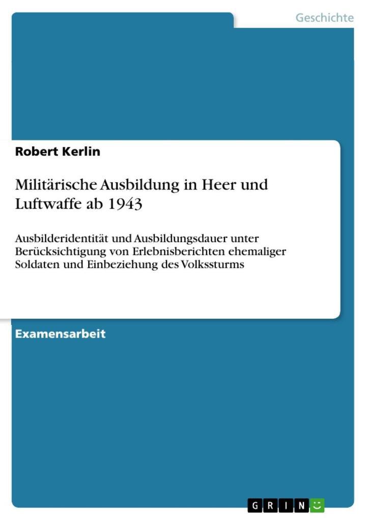 Militärische Ausbildung in Heer und Luftwaffe a...