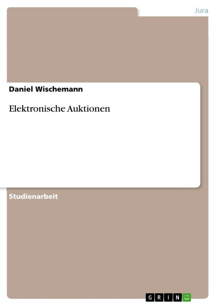 Elektronische Auktionen als eBook Download von ...